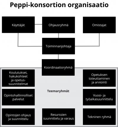 Peppi-konsortion organisaatiorakenne